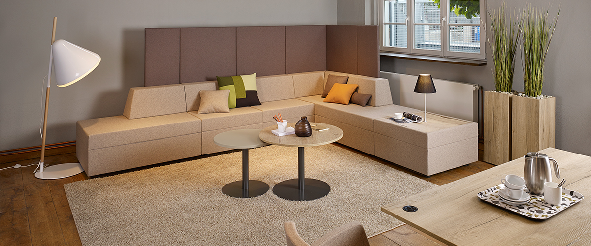 Sofa Loungegruppe Places für Büro