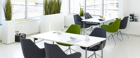 office cafeteria. Cafeteria Mit Febrü Fashion Green Als Sichtschutz Office E